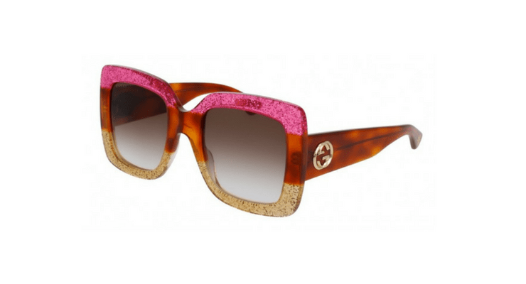 4fabdf7b298 Looking for some good old square framed oversized sunnies  The Gucci-GG0083S-002  is perfect for you. This pair of shades has it all  the light brown and ...