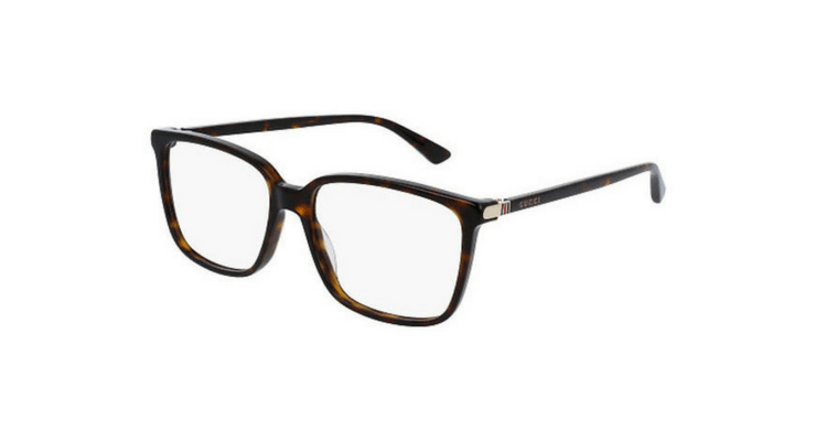 a4daab2fa68 The Havana Wayfarer frame with a classic small detailed Gucci logo on the  side matches all face shapes. Due to the overall classic look