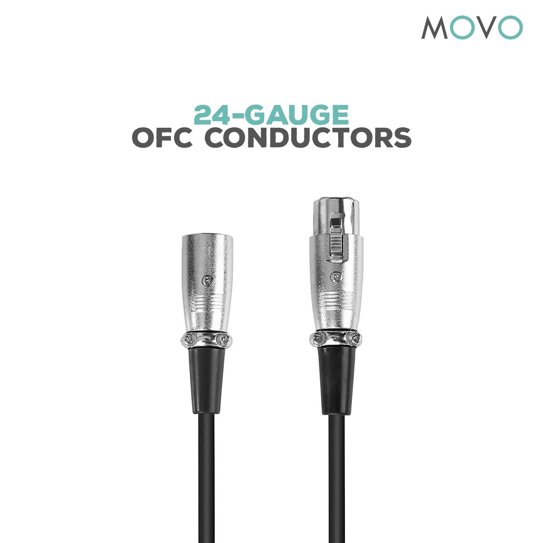 Movo Mc Xlr5 Pro Balanced Male To Female Xlr Microphone