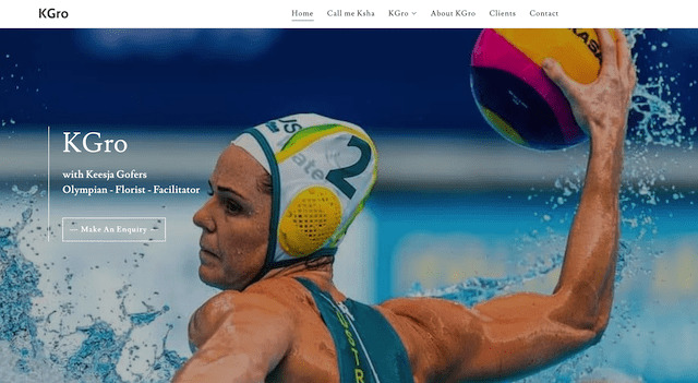 Keesja Gofers new GoDaddy Kgro website