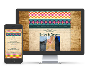 Paperless Wedding Website Aztec Brights