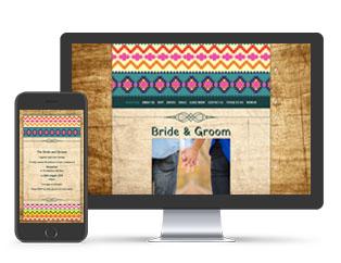 Paperless Wedding Website Aztec Brights