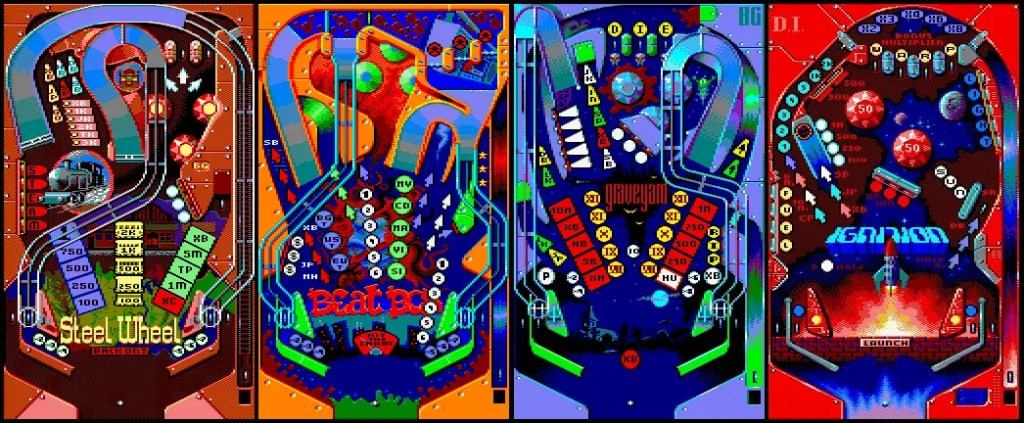 Pinball Dreams, mesas