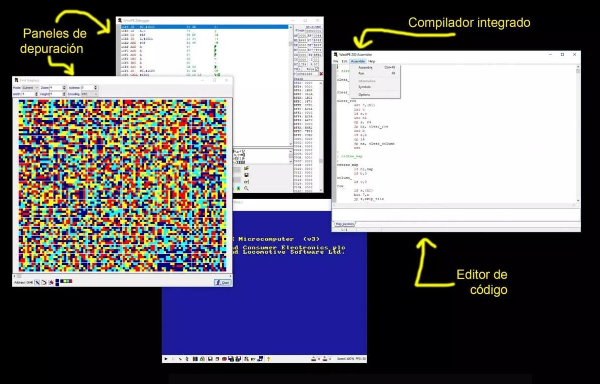 Curso Programación Amstrad CPC: El Entorno de Desarrollo 4