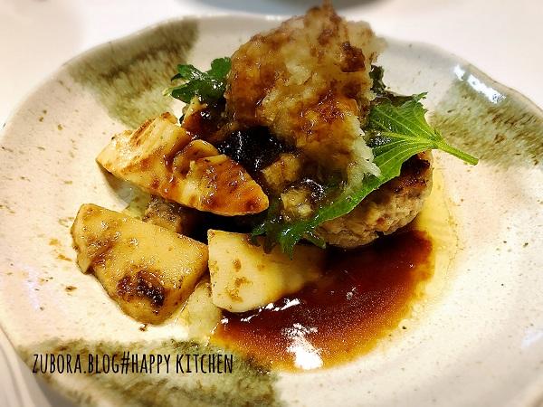 おろし豆腐ハンバーグ(タケノコのソテー)のレシピ