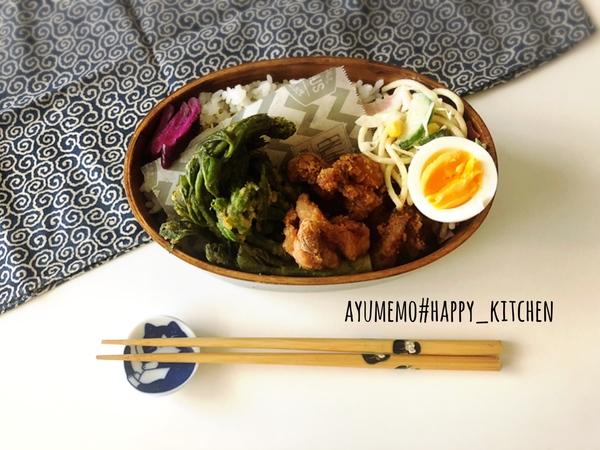 たらの芽の天ぷら弁当