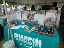 A booth at the Take Back The Night event on April 21 (Photo: Jamie Sapp)