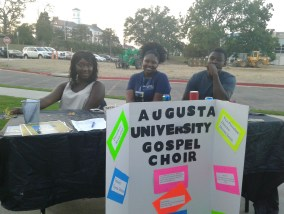 The Augusta University Gospel Choir join with other organizations at the Unity Festival. (Photo: Jamie Sapp)