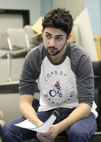 Michael Fortino, who played Toby in The Effect, prepares for a scene. (Photo: Kait Fruechting)