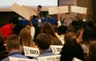 Jr. Model UN delegates voted on amendments to resolutions at the JMUN conference on Mar. 15. (Photo: Kait Fruechting)