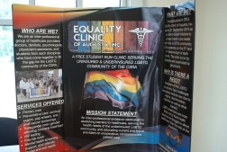 A poster on the Equality Clinic of Augusta, Inc. at the 2017 WGST Symposium (Photo: Jamie Sapp)