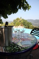 A toast on the pool terrace