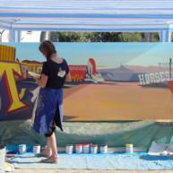 Michelle-Auboiron-Neon-Boneyard-peinture-live-a-Las-Vegas-3 thumbnail