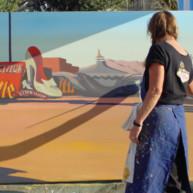 Michelle-Auboiron-Neon-Boneyard-peinture-live-a-Las-Vegas-5 thumbnail