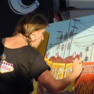 Michelle-Auboiron-Neon-Boneyard-peinture-live-a-Las-Vegas-8 thumbnail