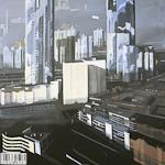 Acrylique sur toile de Paris la Défense par Michelle Auboiron