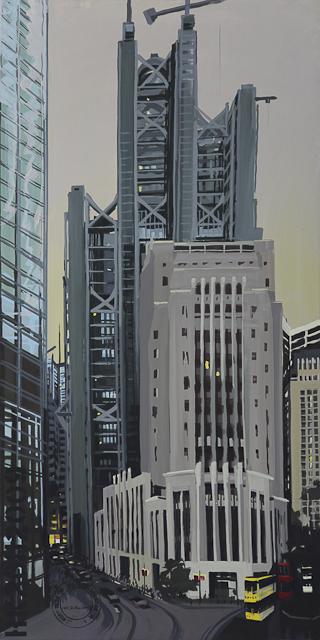 La banque HSBC de Hong Kong - Peinture de Michelle Auboiron
