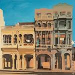 Sur le Malecon - Peinture de Michelle Auboiron