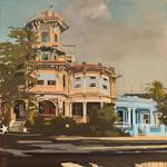 La Maison Tout - Peinture de la Havane par Michelle Auboiron