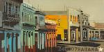Les colonnes - Peintures de la Havane par Michelle Auboiron