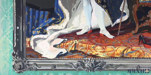 Déjà Minuit - Détournement des tableaux officiels du Château de Versailles par Michelle Auboiron