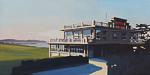 Peinture du Dinard Golf par Michelle Auboiron