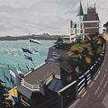 Peinture du Yacht Club à Dinard par Michelle Auboiron