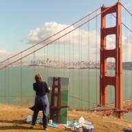 Michelle-Auboiron-Bridges-of-Fame-peinture-live-New-York-San-Francisco-2003- thumbnail