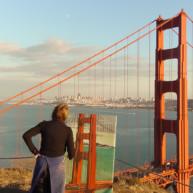 Michelle-Auboiron-Bridges-of-Fame-peinture-live-New-York-San-Francisco-2003--3 thumbnail