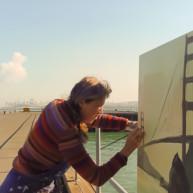 Michelle-Auboiron-Bridges-of-Fame-peinture-live-New-York-San-Francisco-2003--7 thumbnail