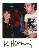 Michelle Auboiron avec Keith Haring à Paris en 1986