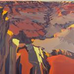 Peinture du Grand Canyon par Michelle Auboiron - Yavapai Point