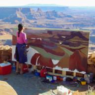Michelle-Auboiron-Colorado-peintures-Ouest-americain-Utah-Nevada-Arizona-Californie-2001--32 thumbnail