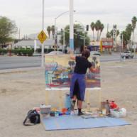 Michelle-Auboiron-Motels-of-the-50-s-peinture-live-a-Las-Vegas-19 thumbnail