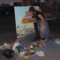 Michelle-Auboiron-Motels-of-the-50-s-peinture-live-a-Las-Vegas-9 thumbnail