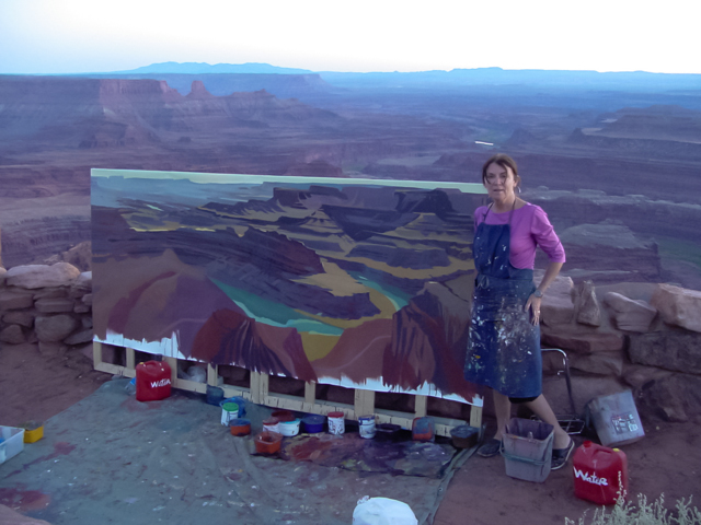 Michelle-Auboiron-Colorado-peintures-Ouest-americain-Utah-Nevada-Arizona-Californie-2001--33