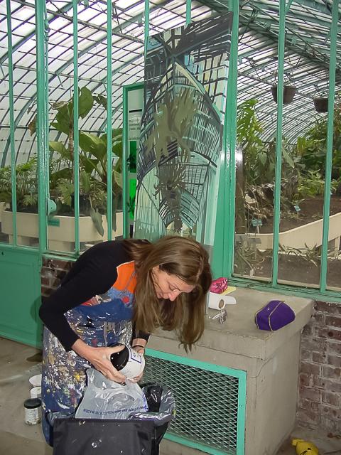 Michelle-Auboiron-peinture-live-aux-serres-d-auteuil-Paris-2004--2