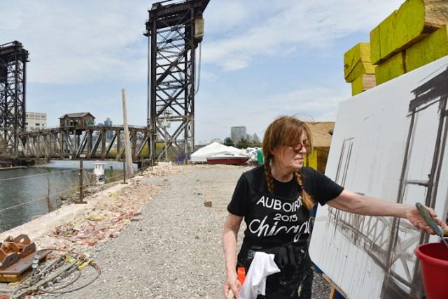 Peinture-ponts-de-chicago-Michelle-Auboiron-