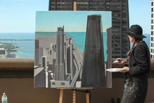 Peinture12-Deck-Chicago-painting-Michelle-Auboiron-12