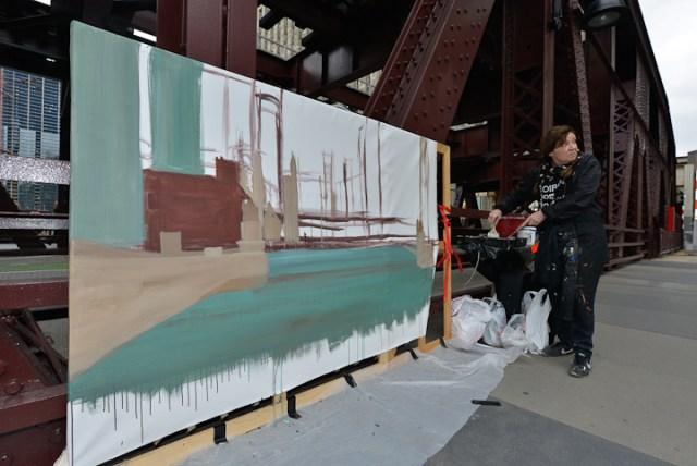 Wells-Street-Bridge-painting-by-Michelle-Auboiron-4