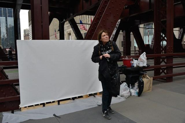 Wells-Street-Bridge-painting-by-Michelle-Auboiron