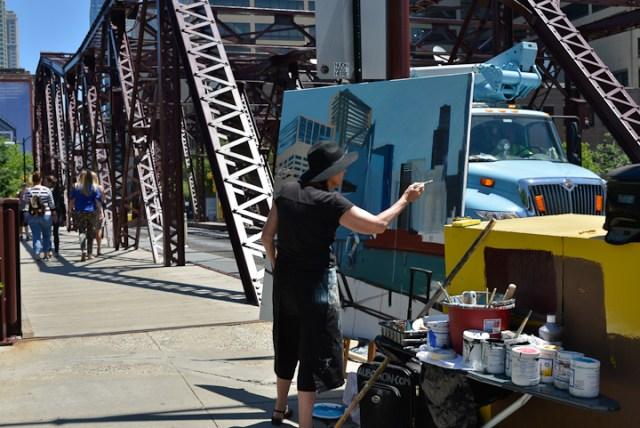 Kinzie-strett-Bridge-Chicago-painting-by-Michelle-Auboiron-6