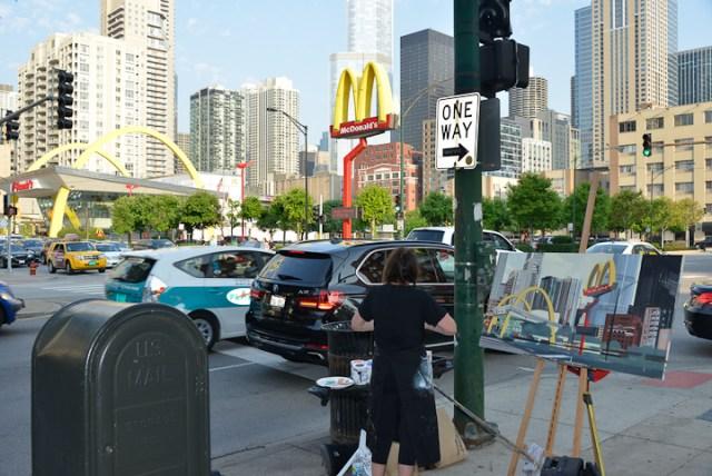 Mac-Donald-s-Chicago-Clark-Ontario-Peinture-Painting-by-Michelle-Auboiron-11