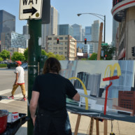 Mac-Donald-s-Chicago-Clark-Ontario-Peinture-Painting-by-Michelle-Auboiron-4 thumbnail