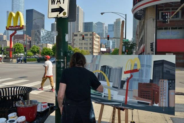 Mac-Donald-s-Chicago-Clark-Ontario-Peinture-Painting-by-Michelle-Auboiron-4