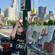 Mac-Donald-s-Chicago-Clark-Ontario-Peinture-Painting-by-Michelle-Auboiron-6 thumbnail