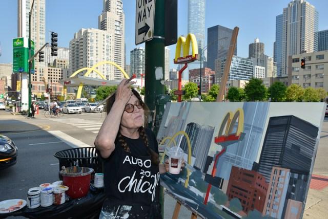 Mac-Donald-s-Chicago-Clark-Ontario-Peinture-Painting-by-Michelle-Auboiron-6