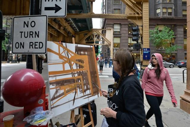 Van-Buren-Dearborn-Chicago-Paining-by-Michelle-Auboiron-7