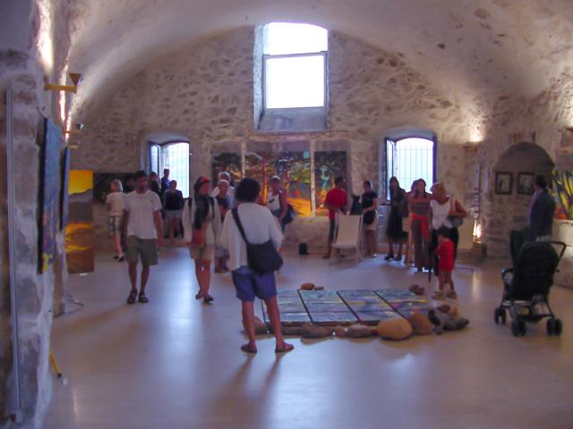 Exposition de peintures de Corse de Michelle Auboiron au Bastion de France de Porto Vecchio