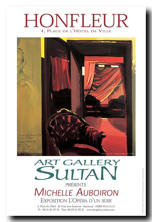 Exposition des peintures de l'Opéra Garnier par Michelle AUBOIRON - Art Gallery Sultan - Honfleur - 2004